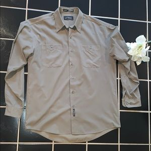 Mens microfiber button up